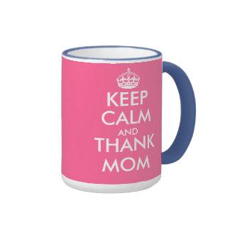 Mothers Day Gift Mug | Keep Calm and thank mom