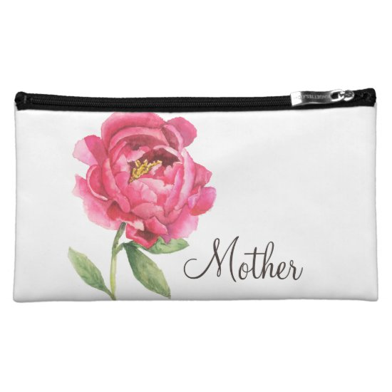 Mother's Day Gift Peony Cosmetic Bag