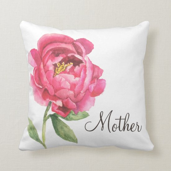 Mother's Day Gift Peony Pillow