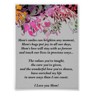 Mother's Day Gift Poster Print - Enchanting Flower