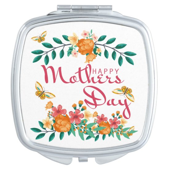 Mother's Day Gift Square Compact Mirror