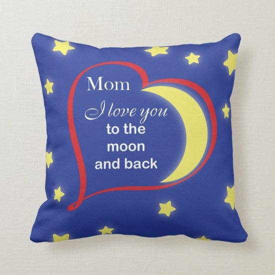 Mother's day gift throw pillow