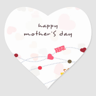 Mother's Day Gifts Heart Sticker