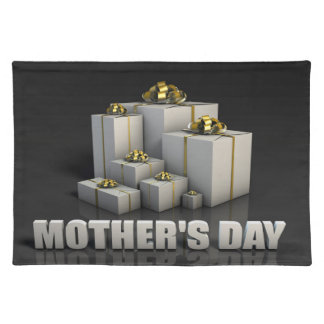 Mother's Day Gifts With Elegant Gold Ribbons Placemat