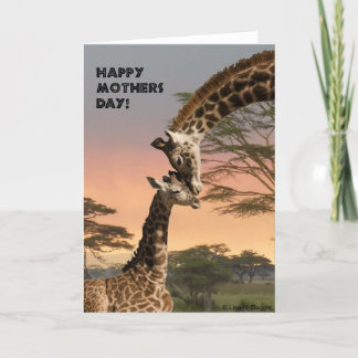 Mother's Day Giraffe Card