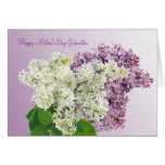 Mother's Day. Godmother. Lilac flowers Card