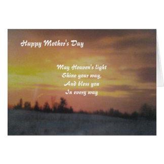 Mother's day greeting card-Spiritual Greeting Card