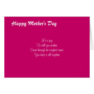 Mother's day greeting card-You cared