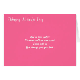 Mother's day greeting cards-beyond compare