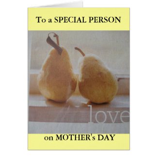 Mother's Day greeting for SOMEONE SPECIAL Card