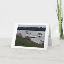 **MOTHER'S DAY GREETING** GAZEEBO AT THE LAKE CARD