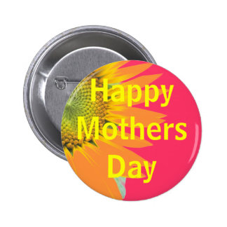 Mothers Day greeting Pinback Button