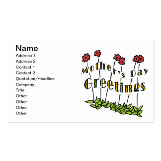 Mothers Day Greetings Double-Sided Standard Business Cards (Pack Of 100)