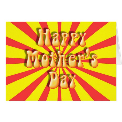 Mother's Day Groovy Retro Photo Frame Greeting Cards