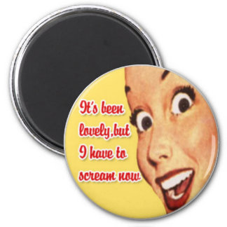 Mother's Day Happy Housewife Funny Retro Magnet