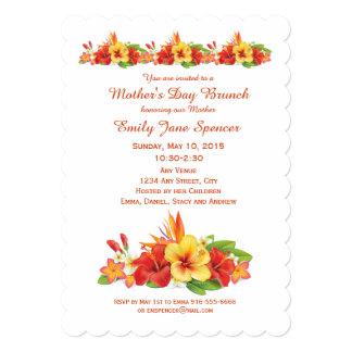 Mother's Day Hawaiian Hibiscus Brunch Invitation