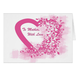 Mother's Day  Heart Greeting Cards
