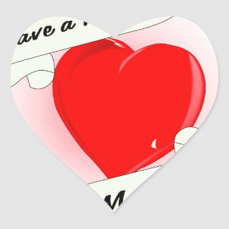 Mothers Day Heart Heart Sticker