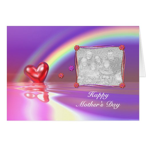 Mother's Day Heart (photo frame) Greeting Card