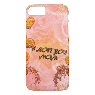 Mother's day, hearts and roses in soft colors iPhone 7 case