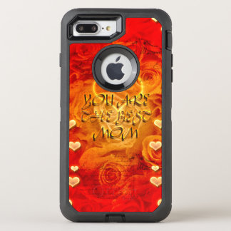 Mother's day, hearts and roses OtterBox defender iPhone 7 plus case