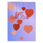 Mothers Day Hearts Card