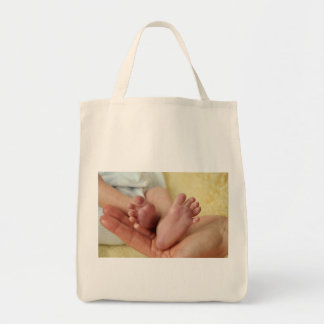 Mother's Day Hearts mom heart love feet newborn Grocery Tote Bag