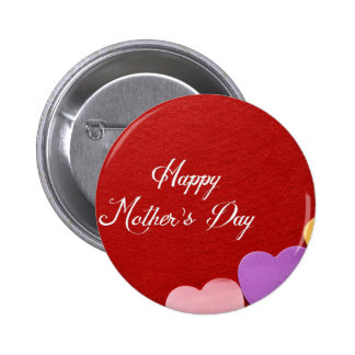 Mother's Day Hearts Pinback Button