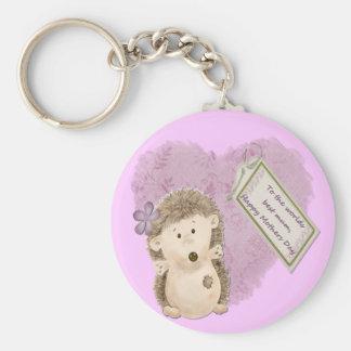 Mothers Day Hedgehog - Keychain