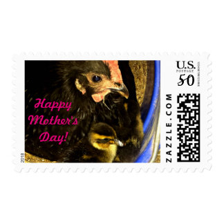 Mother's Day Hen and Duckling Postage