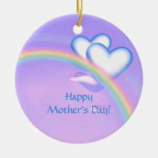 Mothers Day High Hearts Ceramic Ornament