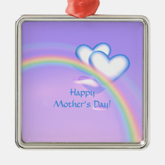 Mothers Day High Hearts Metal Ornament