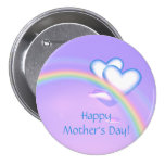 Mothers Day High Hearts Pinback Button