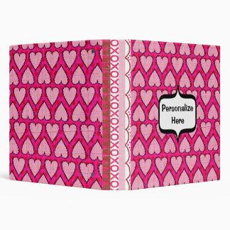 Mother's Day Hot Pink Scrapbook Hearts Binder