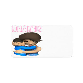 Mothers Day Hugs Personalized Address Label