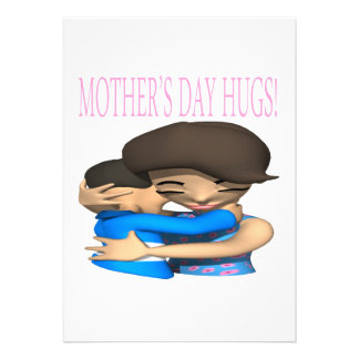 Mothers Day Hugs Personalized Invitations