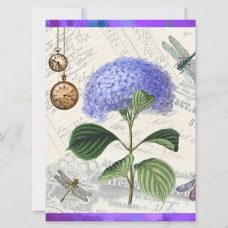Mother's Day Hydrangea Photo Flat Card