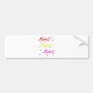 Mother's Day - I love Mom Car Bumper Sticker