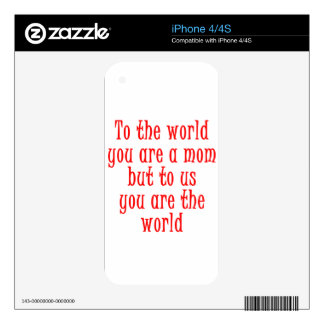mother's day iPhone 4 decal
