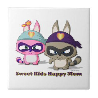 Mother's Day Kawaii Gift Cute Cartoon Funny Tile