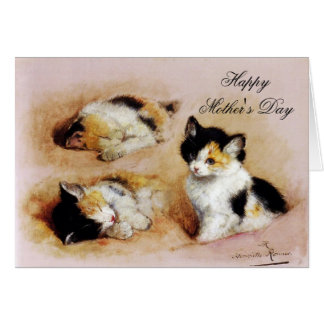 MOTHER'S DAY KITTENS Waking up Card