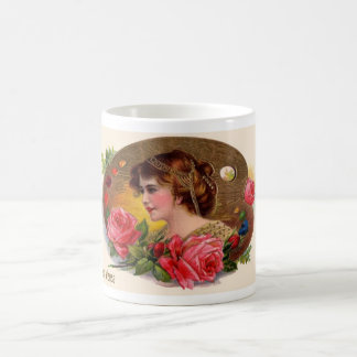 Mother's Day Lady in Rose Garden Coffee Mug