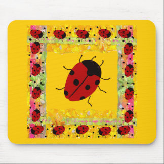 Mother's Day Ladybug Mouse Pad