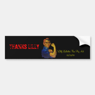 MOTHER'S DAY LILLY LEDBETTER BUMPER STICKER