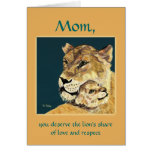 Mother's Day Lioness and Cub card