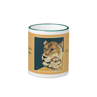 Mother's Day Lioness and Cub mug
