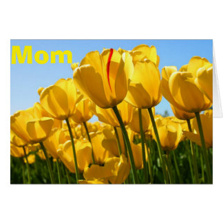 MOTHER'S DAY LOVE AND BUNCHES OF TULIPS TOO CARD
