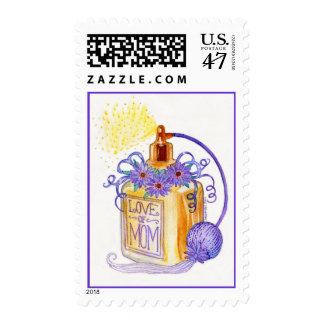 Mother's Day Love of Mom Perfume Bottle Postage
