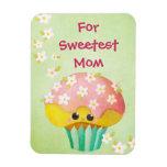 Mother's Day Lovely Cupcake -custom txt- Magnet
