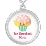 Mother's Day Lovely Cupcake -custom txt- Pendant